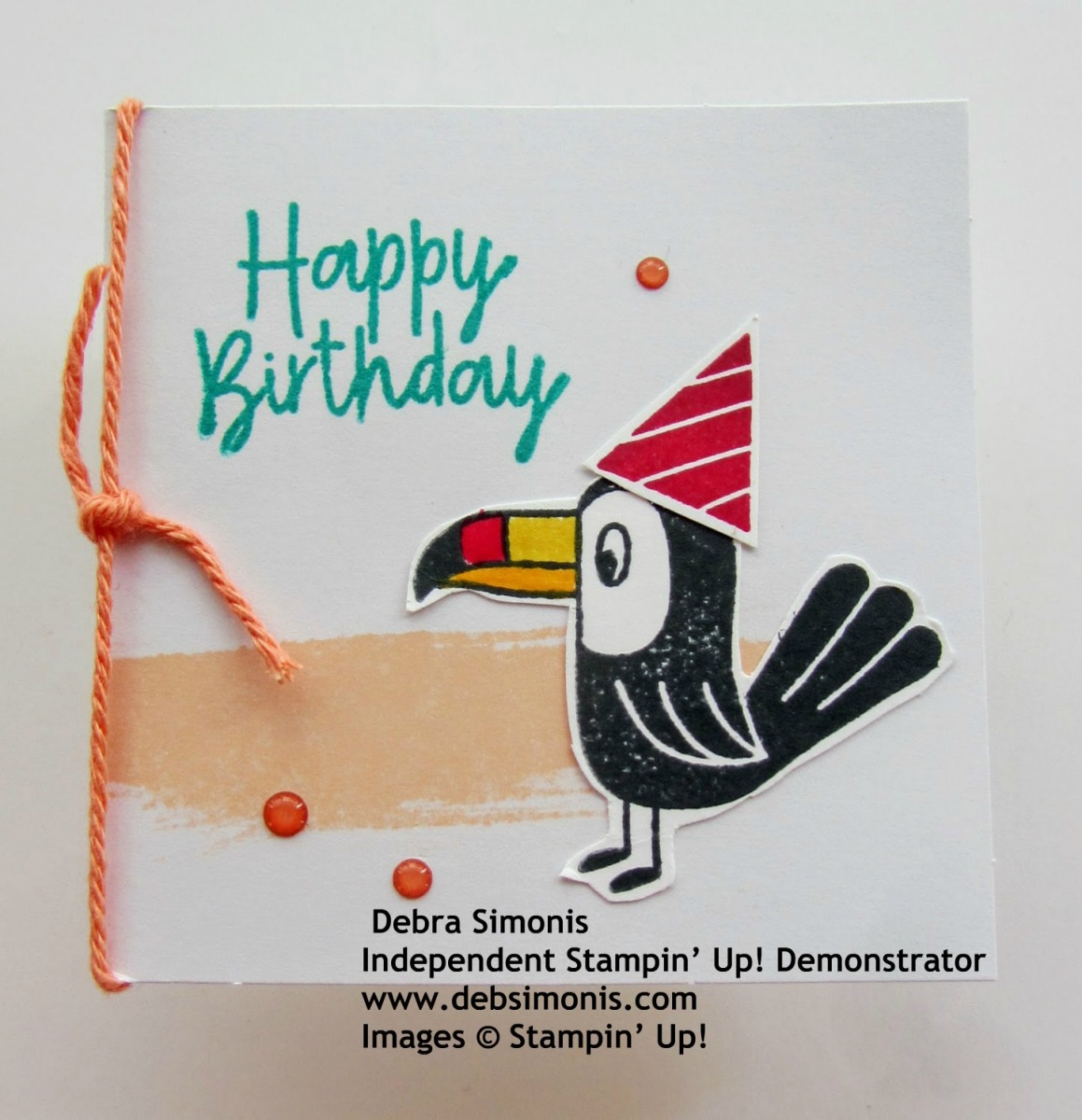 Stampin-Up-Birthday-Bonanza-3-x-3-Toucan-Birthday-Gift-Enclosure-Card-Starburst-Punch-Stitched-Shapes-Dies-Best-Dressed-Note-Cards-Envelopes-Debra-Simonis-Stampinup