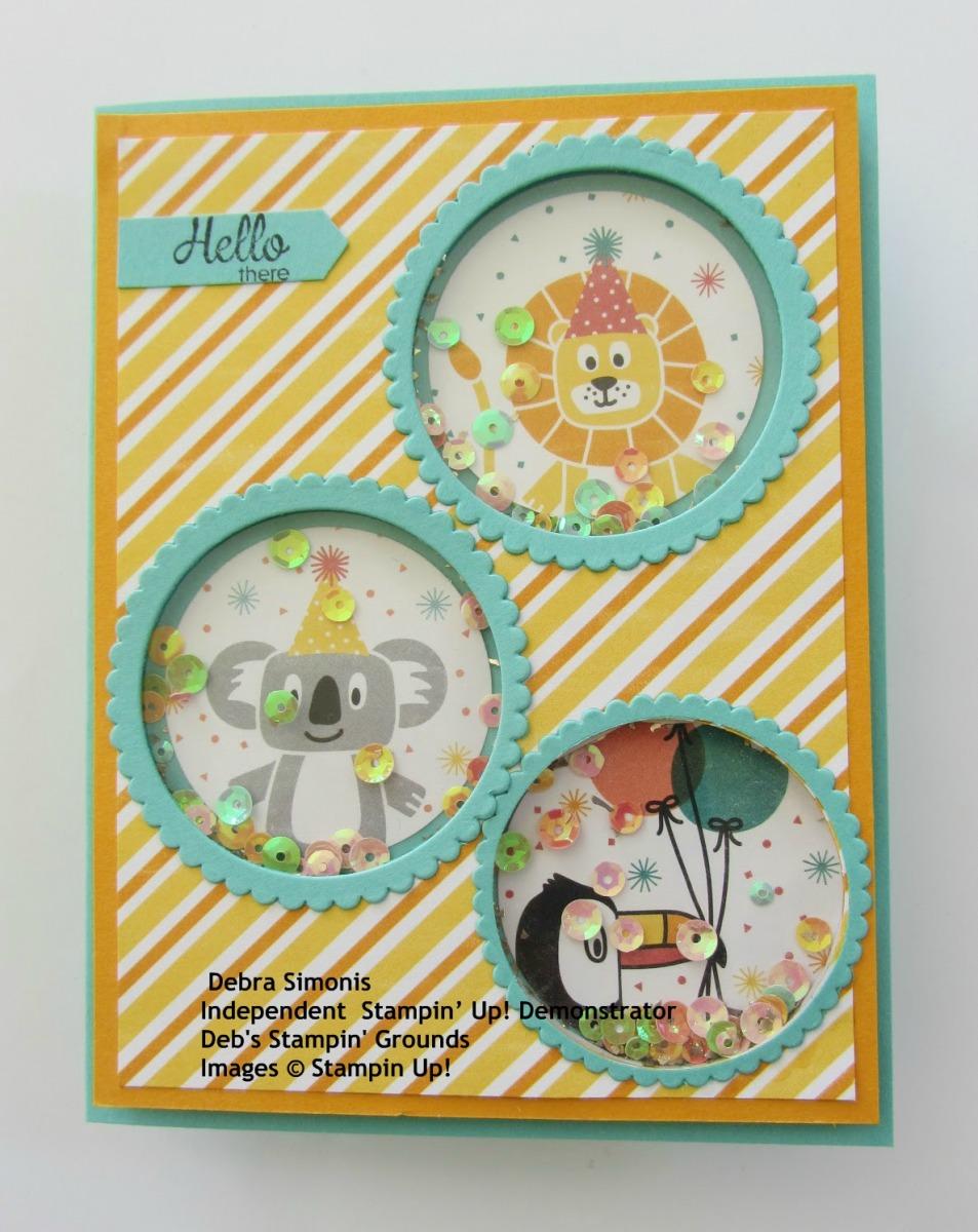 Stampin-Up-Birthday-Bonanza-window-sheet-shaker-card-kids-baby-card-design-Debra-Simonis-Stampinup