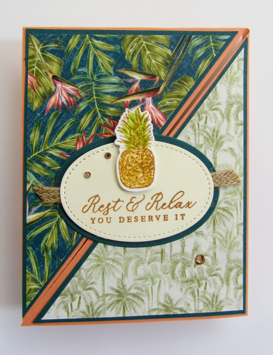 Stampin-Up-Timeless-Tropical-stamp-set-Layering-Ovals-dies-Tropical-Dies-rest-relax-retirement-thinking-of-you-card-with-pineapple-Debra-Simonis-Stampinup
