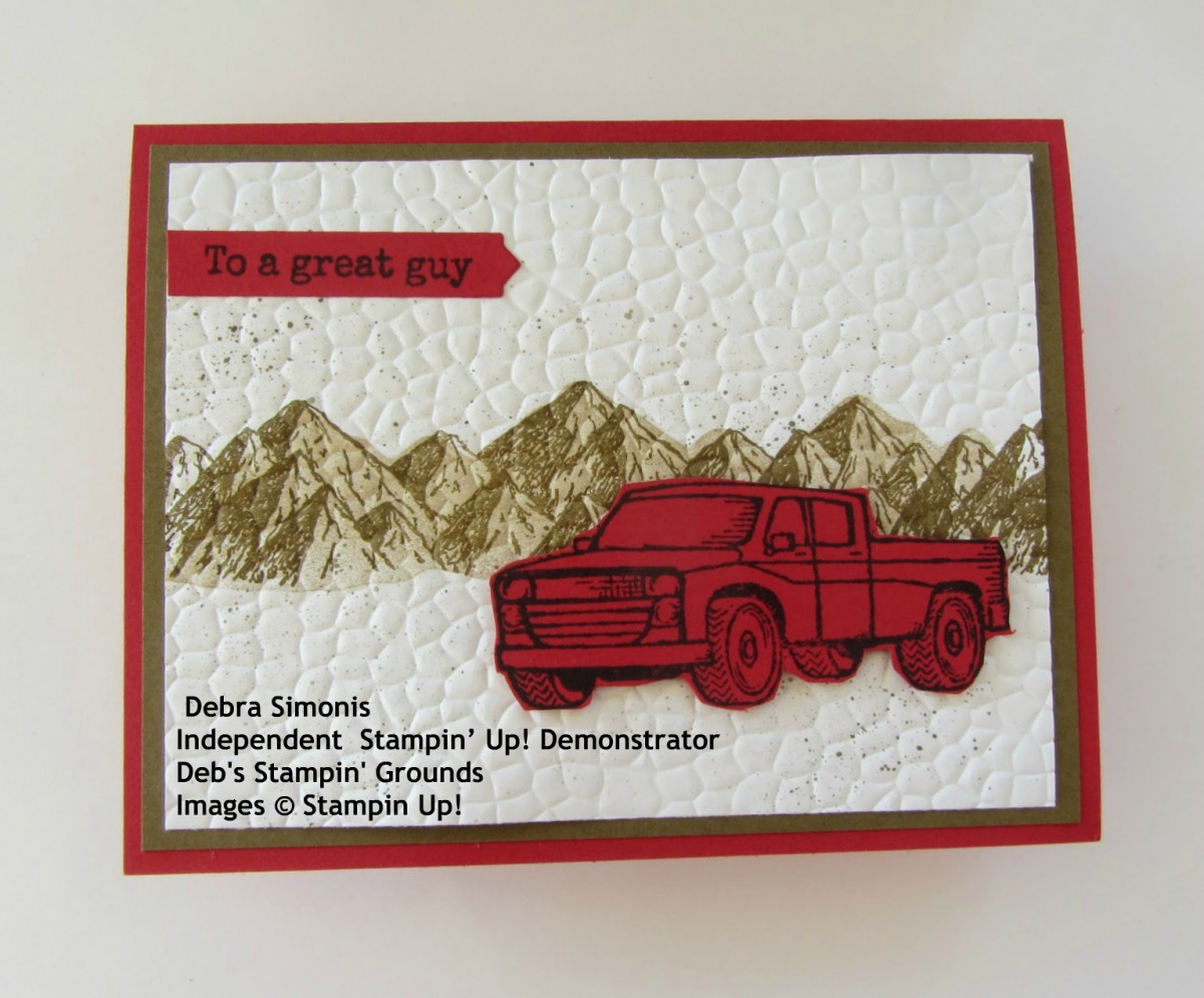 Stampin-up-Pedal-to-the-Metal-Mountain-Air-Hammered-Metal-masculine-card-Debra-Simonis-Stampinup