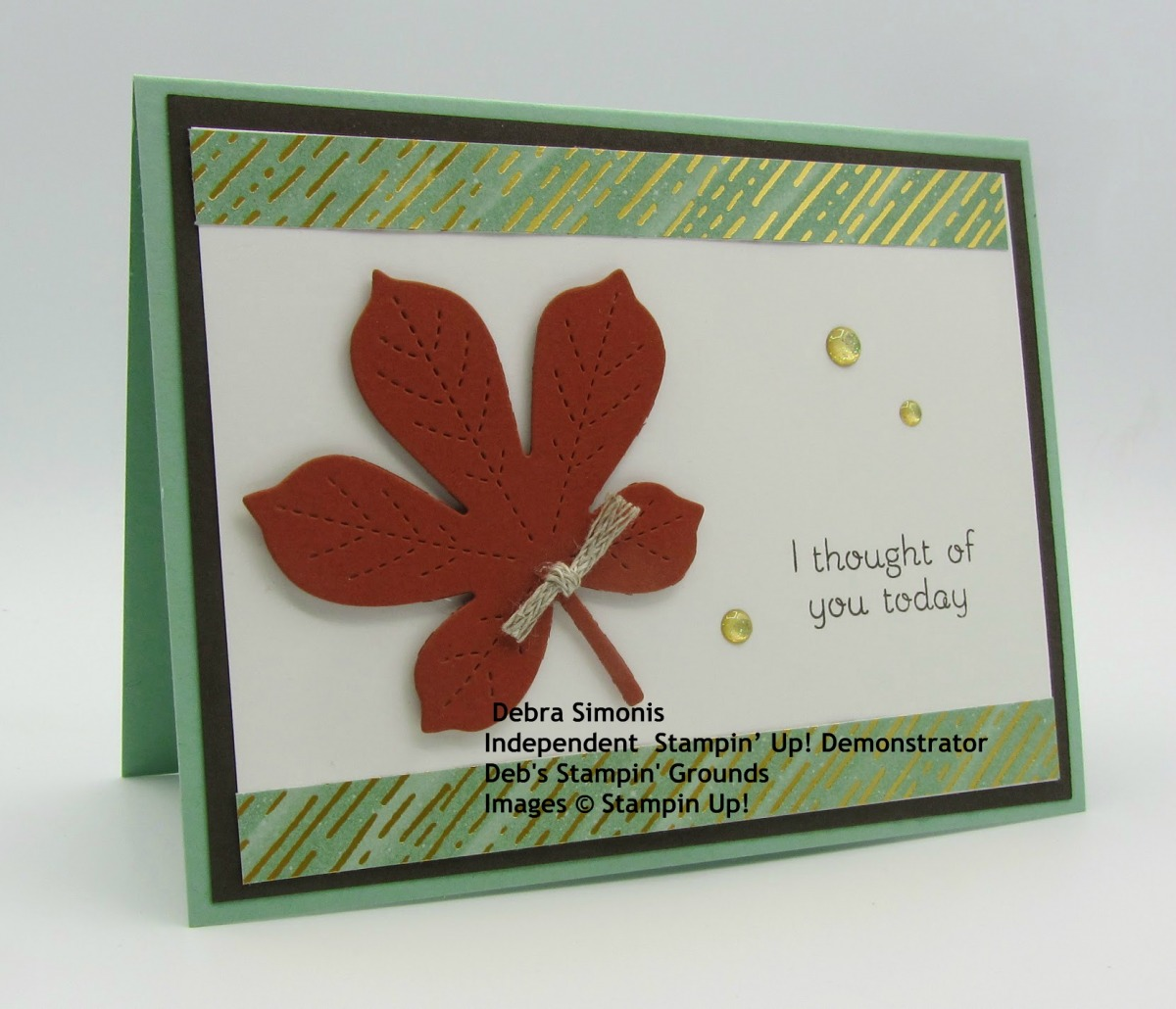 Stampin-Up-Love-of-Leaves-Stitched-Leaves-Dies-Gilded-Autumn-Specialty-Paper-thinking-of-you-card-Debra-Simonis-Stampinup
