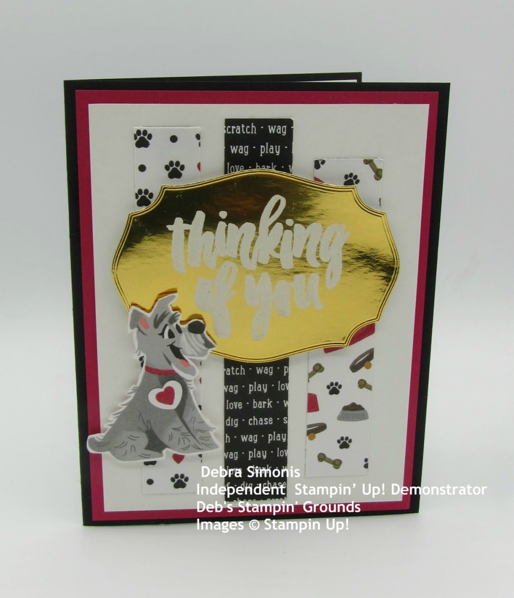 Stampin-Up-Rooted-in-Nature-Tasteful-Labels-Dies-Heat-Embossing-Playful-Pets-thinking-of-you-pet-sympathy-card-Debra-Simonis-Stampinup