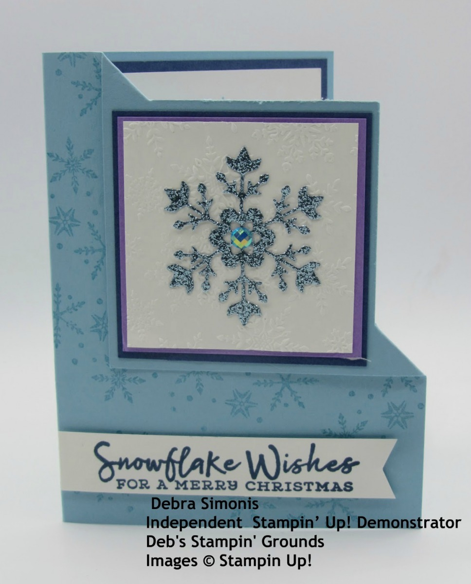 Stampin-Up-Snowflake-Wishes-stamp-set-So-Many-Snowflake-dies-christmas-card-corner-fold-card-Debra-Simonis-Stampinup