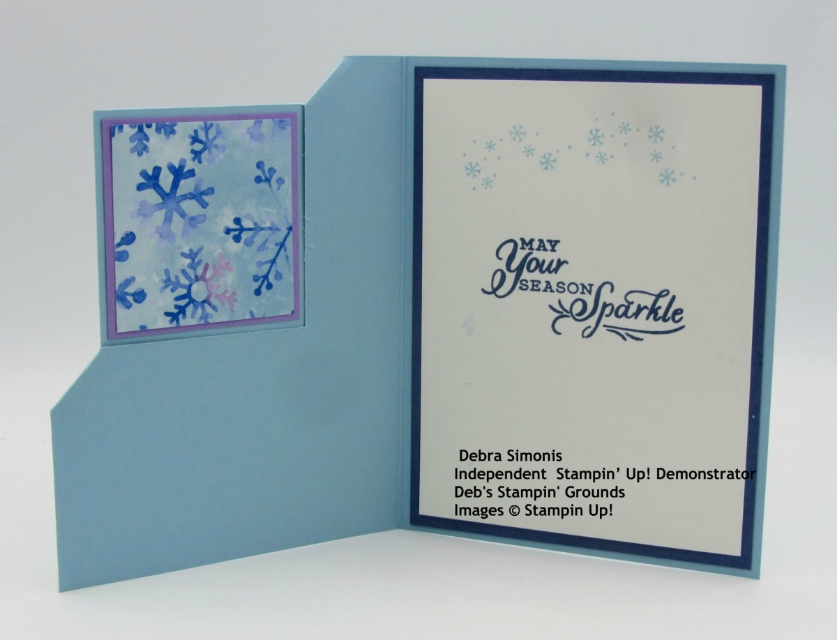 Stampin-Up-Snowflake-Wishes-stamp-set-So-Many-Snowflake-dies-christmas-card-corner-fold-card-insode-view-Debra-Simonis-Stampinup