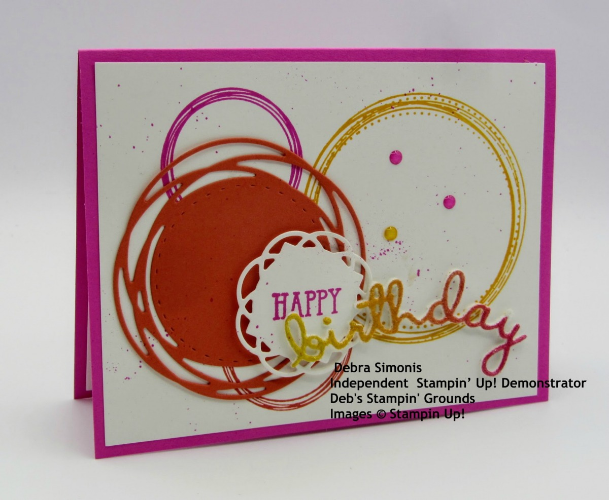 Stampin-Up-Swirly-Frames-stamp-set-We-Said-stamp-set-Painted-Labels-Dies-Well-Written-Dies-happy-birthday-card-Debra-Simonis-Stampinup