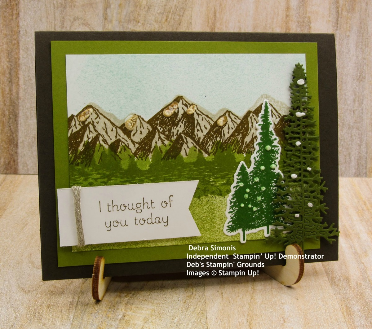 Stampin-Up-Mountain-Air-Majestic-Mountain-Dies-Love-of-Leaves-thinking-of-you-card-masculine-Debra-Simonis-Stampinup