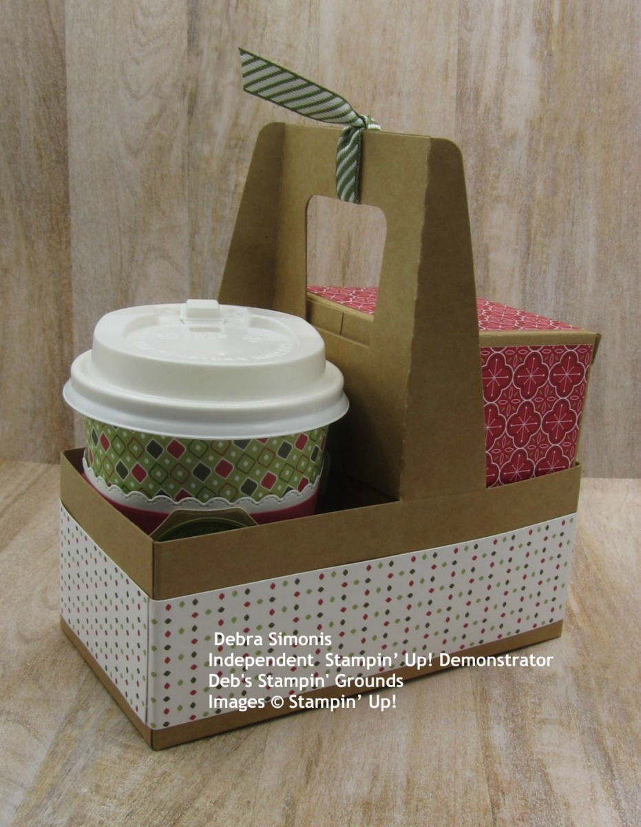 Stampin-Up-Warm-Hugs-Warm-Wraps-Dies-Mini-Coffee-Cups-Mini-Shipping-Boxes-Mini-Coffee-Carrier-Heartwarming-Hugs-patterned-paper-Merry-Christmas-Debra-Simonis-Stampinup