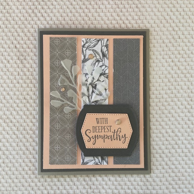 Stampin-Up-Peaceful-Moments-Forever-Flourishing-Dies-Sympathy-Card-Debra Simonis Stampinup