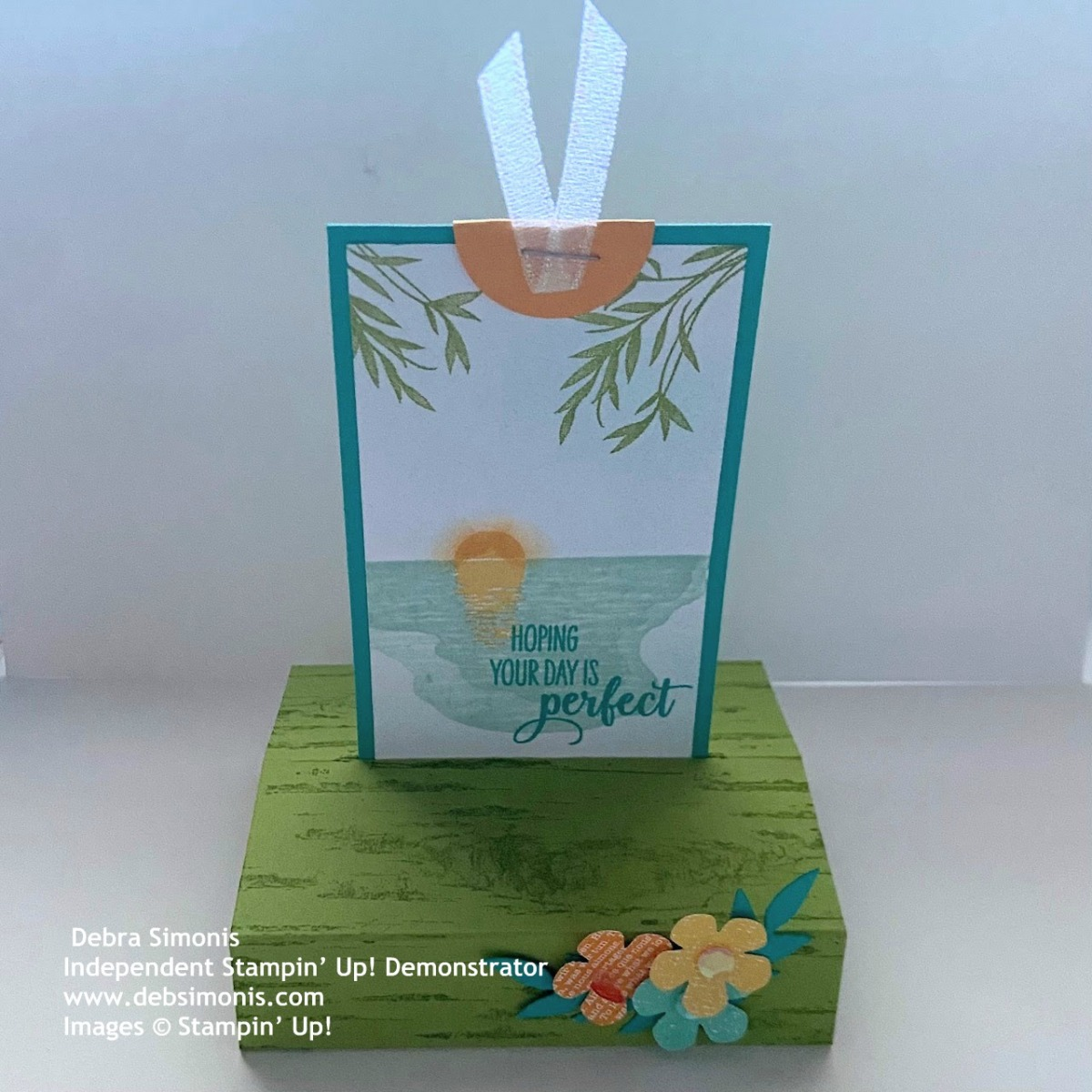 Stampin-Up-Sending-‏Birch-Background-Stamp-Small-Bloom-Punch-birthday-card-tropical-theme-fancy-fold-card-Free-Standing-Pop-Up-Card-Debra-Simonis-Stampinup