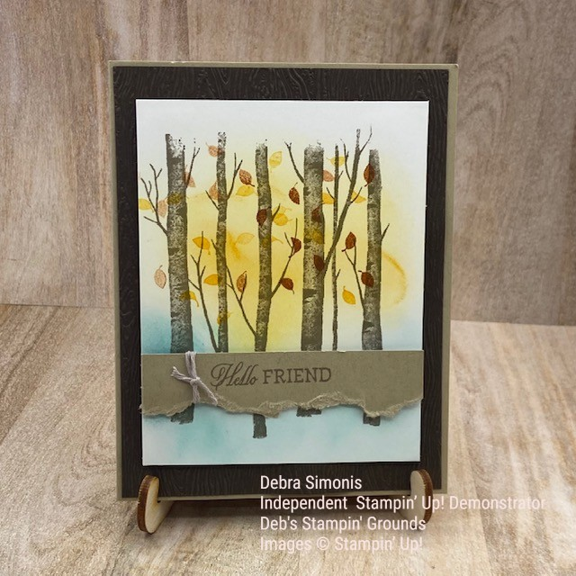 Stampin-Up-Welcoming-Woods-blending-brushes-autumn-hello-card-Debra-Simonis-Stampinup