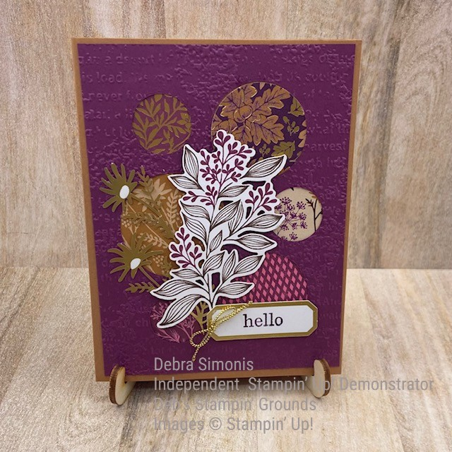 ATTACHMENT DETAILS  Stampin-Up-Picture-This-Dies-Timeworn-Type-Embossing-Folder-Blackberry-Beauty-Ephemera-Pack-hello-card-friend-thinking-of-you-card-Debra-Simonis-Stampinup